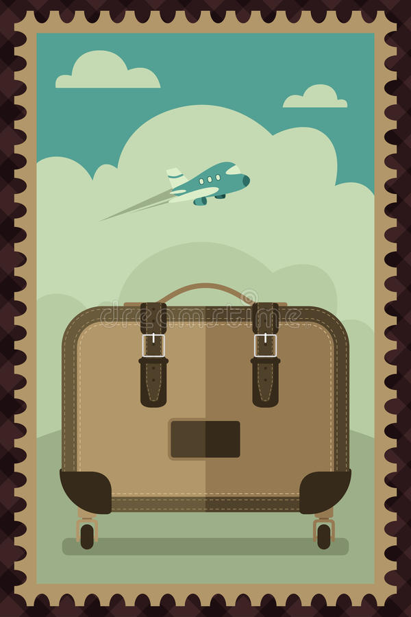 Download Vintage Travel Luggage Poster Stock Vector