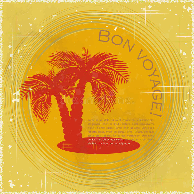 Download Vintage Travel Postcard - Two Palm Trees Stock Vector - Image: 24441859