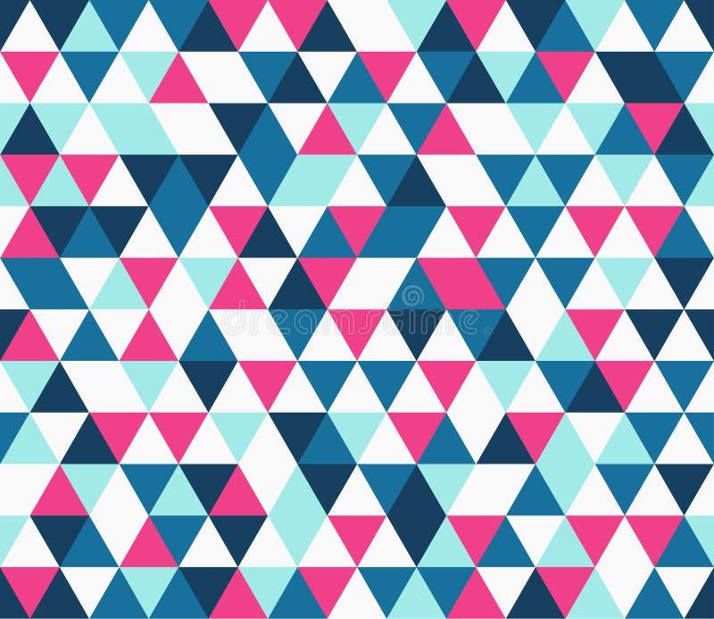 Vintage triangular seamless background stock illustration
