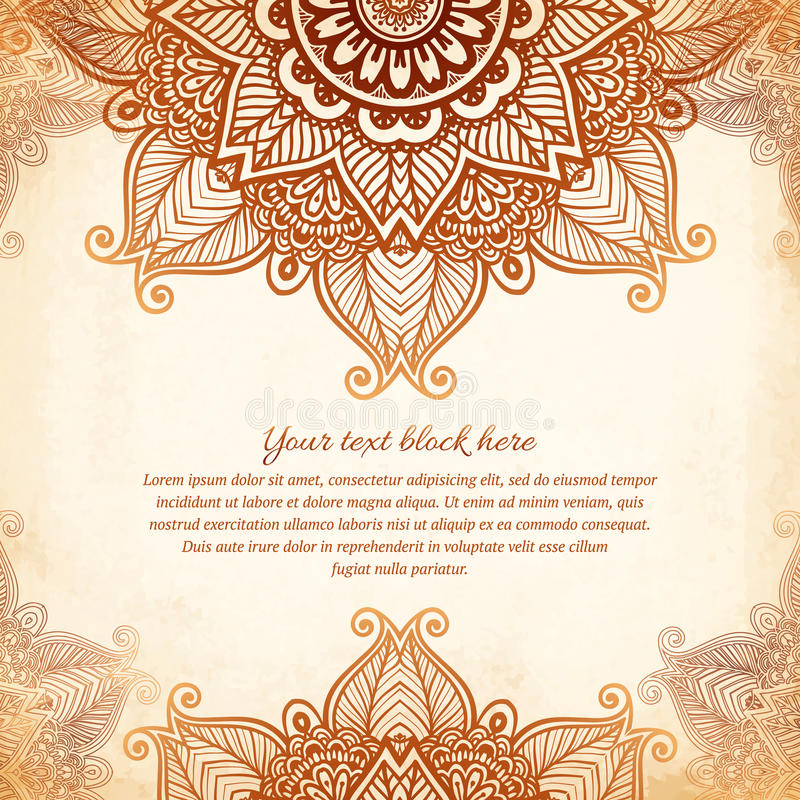 Vintage tribal style lacy abstract background vector illustration