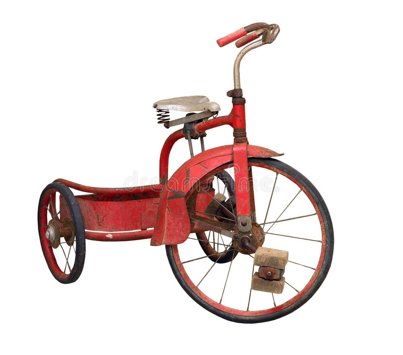 Download Vintage Tricycle stock photo. Image of entertainment, moving - 3688084