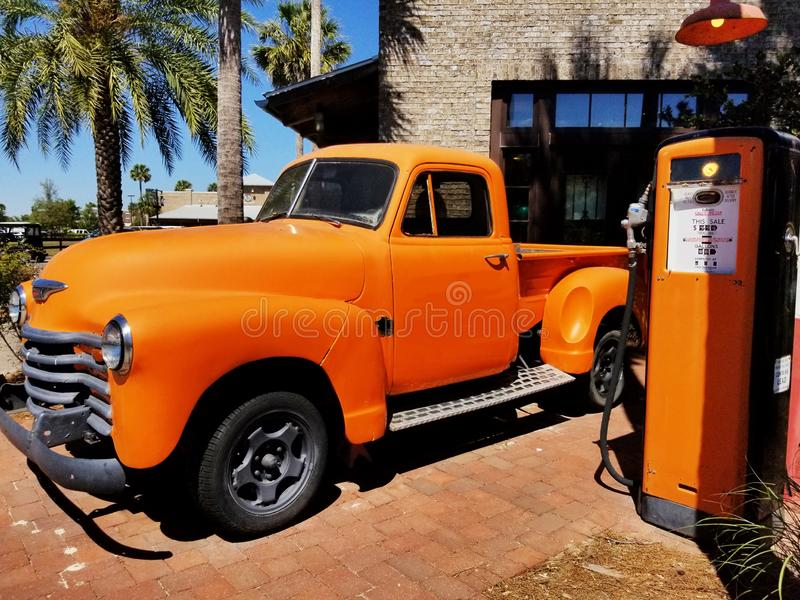 Vintage Truck and Pump 1 stock photography