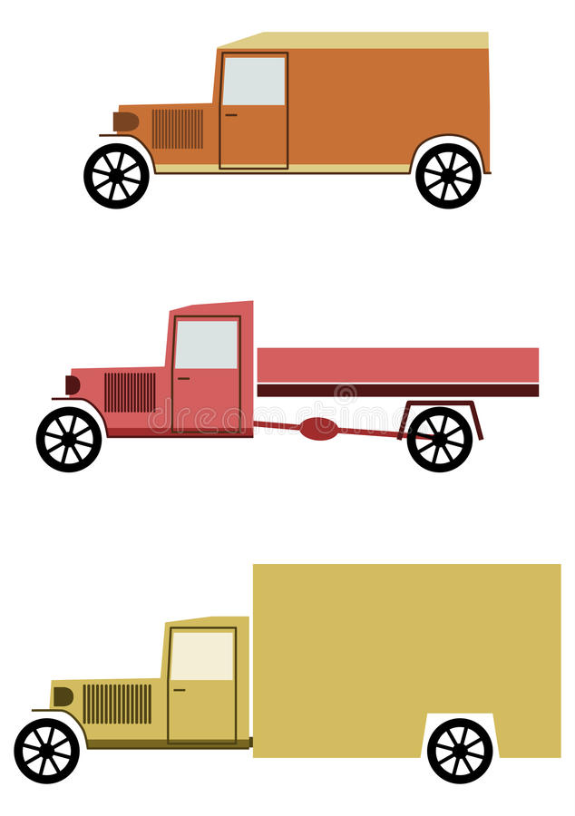 Vintage Truck Set. Stock Photography