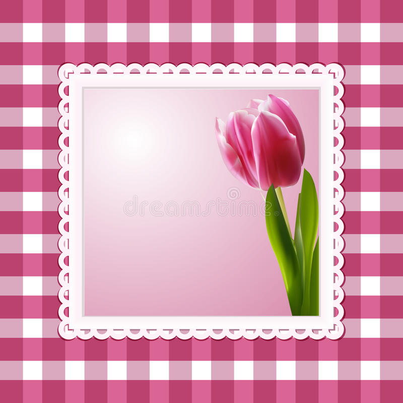 Download Vintage tulip background stock vector. Illustration of gingham - 22945061