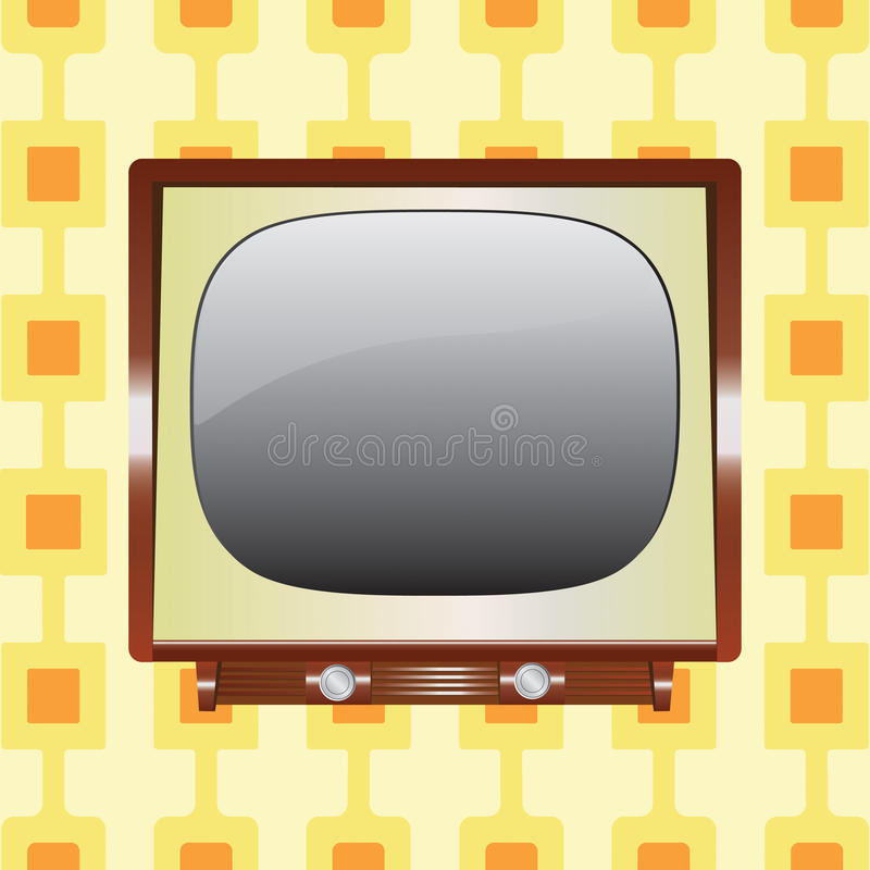 Download Vintage tv stock vector. Image of design, illustration - 11232672
