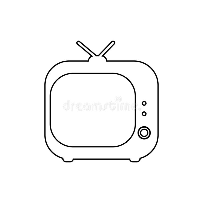 vintage TV icon. Element of Media for mobile concept and web apps icon. Thin line icon for website design and development, app stock illustration