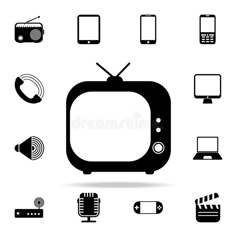 Vintage TV icon. Media icons universal set for web and mobile. On white background stock illustration