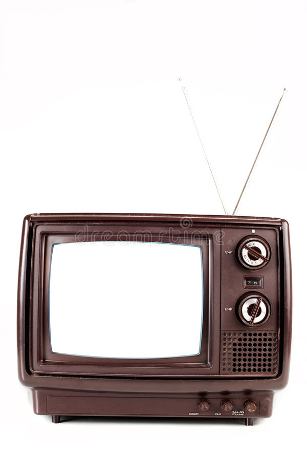Free Vintage TV On White Stock Photos - 18260303