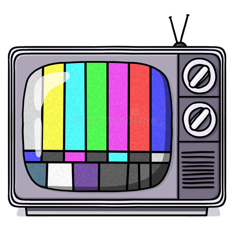 Download Vintage TV Set Illustration With Test Pattern Royalty Free Stock Photo - Image: 21529645