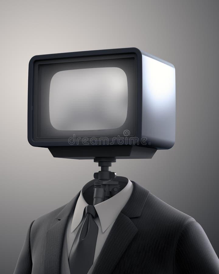 Vintage TV set robot vector illustration