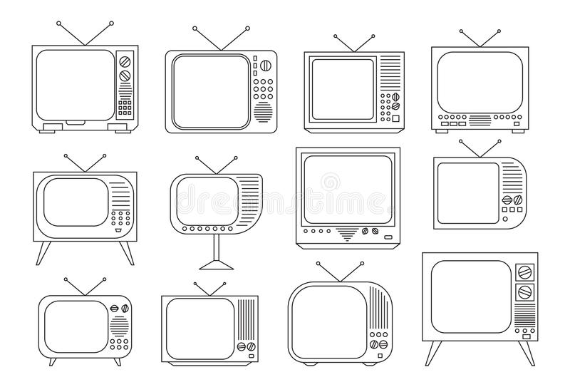 Vintage TV set. Vector illustration of the vintage TV set vector illustration