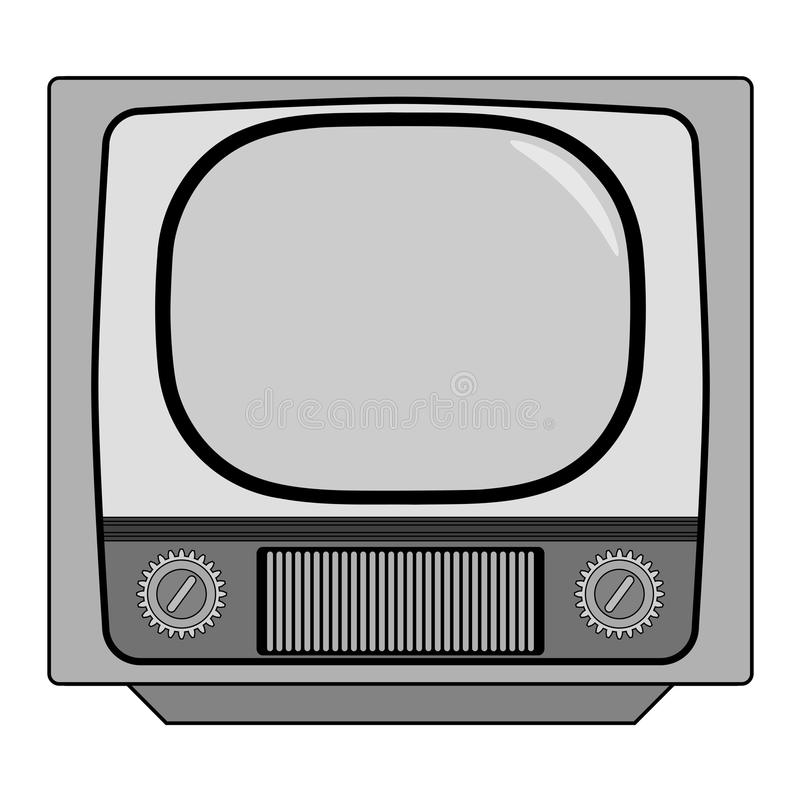 Vintage tv set royalty free illustration