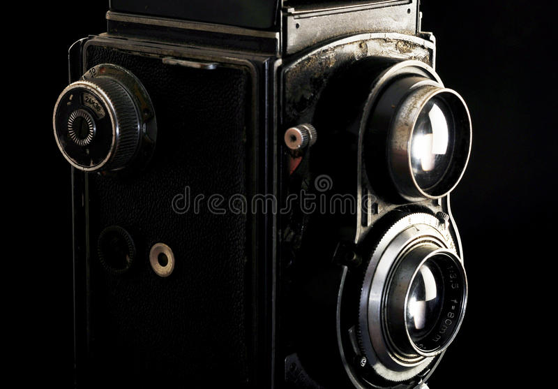 Vintage twin reflex camera royalty free stock images