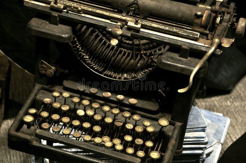 Vintage typewriter. Remington very old typewriter . vintage conceptual image. writing , screenwriter concept royalty free stock photo