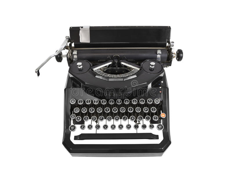 Download Vintage Typewriter stock image. Image of isolated, object - 22708339
