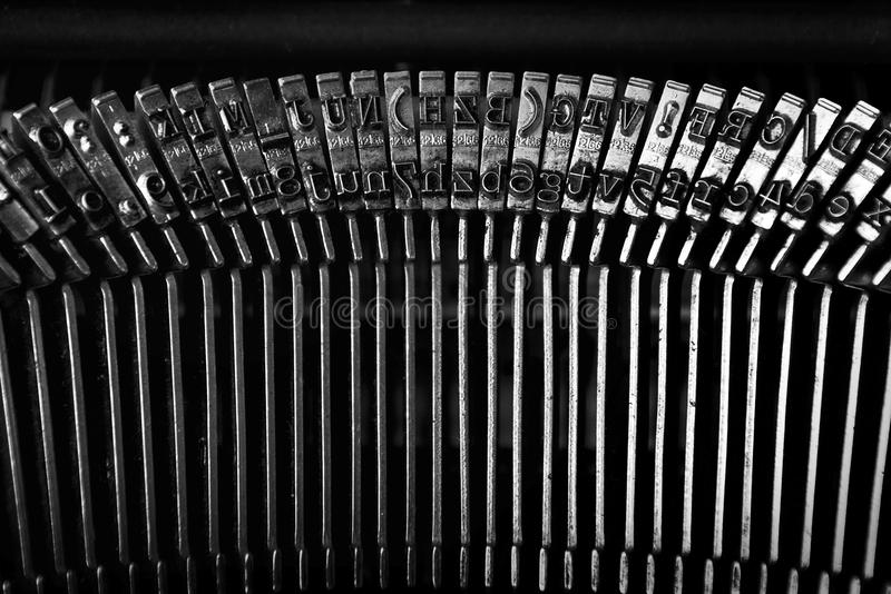 Vintage typewriter detail royalty free stock photos