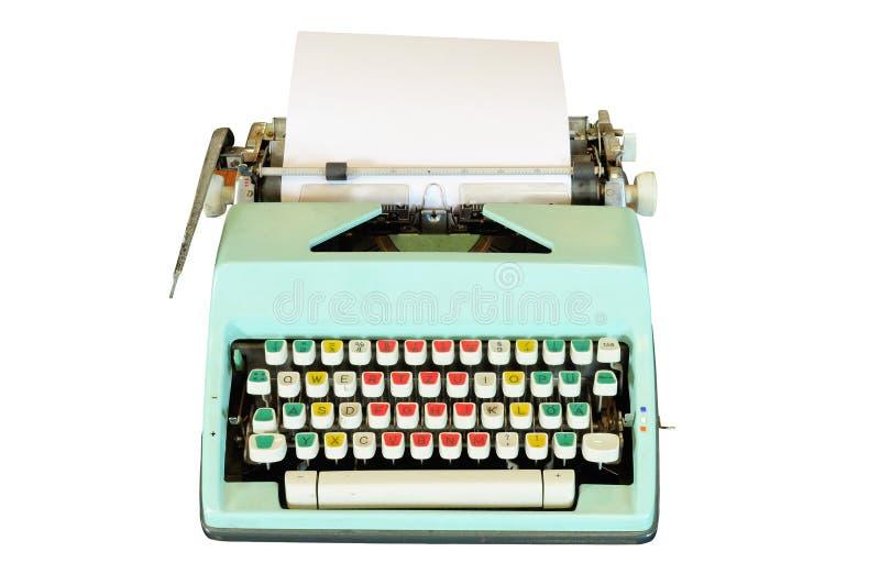 Vintage typewriter isolated. On white background royalty free stock photos