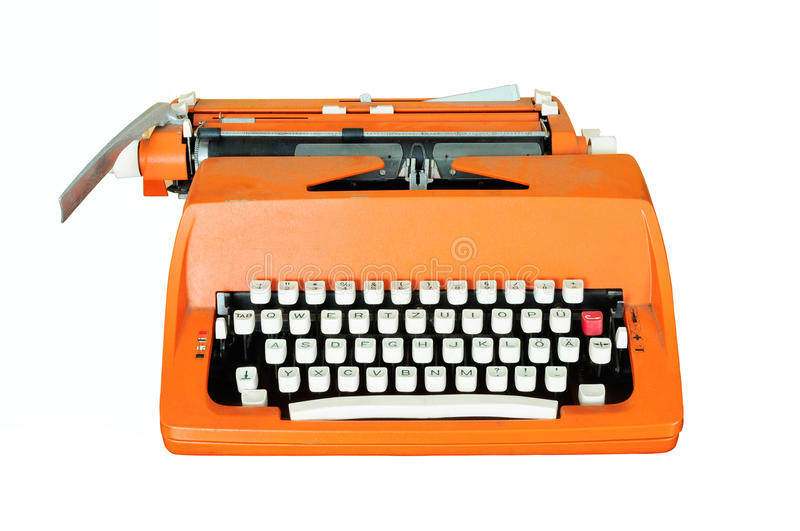 Vintage typewriter isolated royalty free stock photography