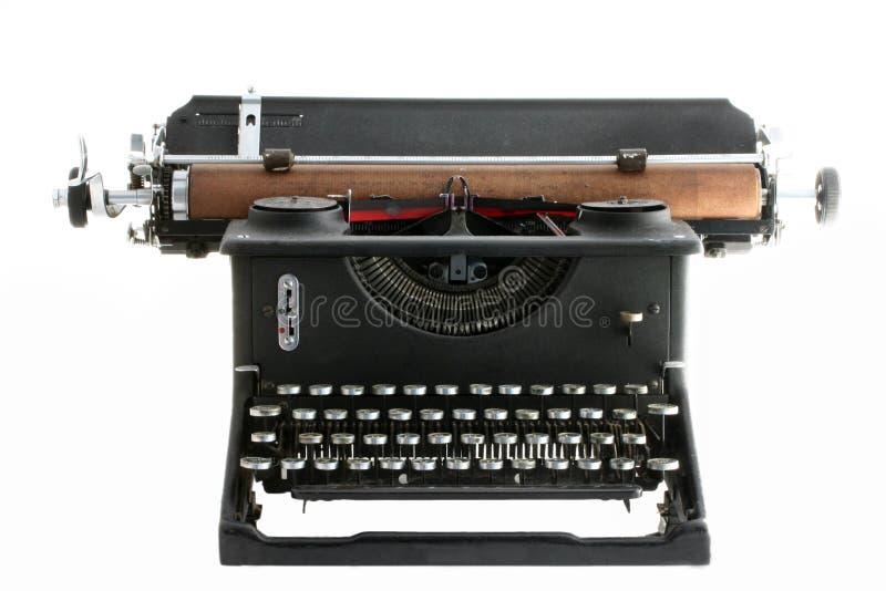 Vintage Typewriter isolated on white stock image