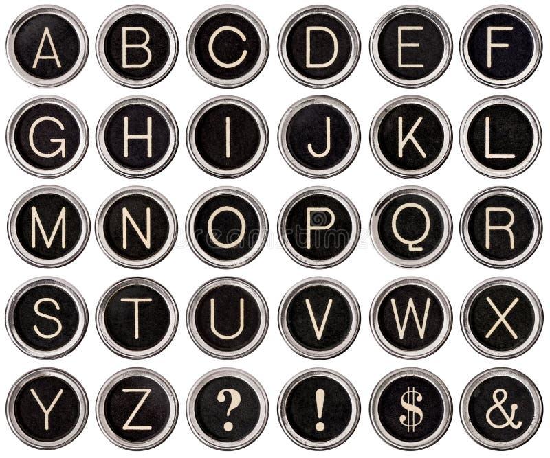 Download Vintage Typewriter Key Alphabet Stock Photo - Image: 25261100