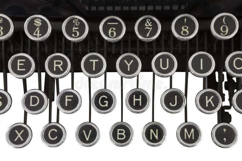 Vintage Typewriter Keys Isolated stock photo