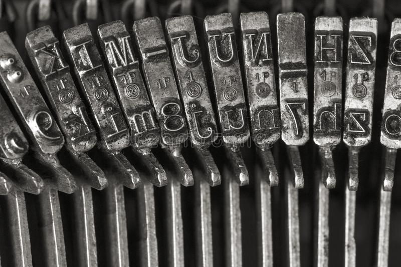 Vintage typewriter letters royalty free stock photo