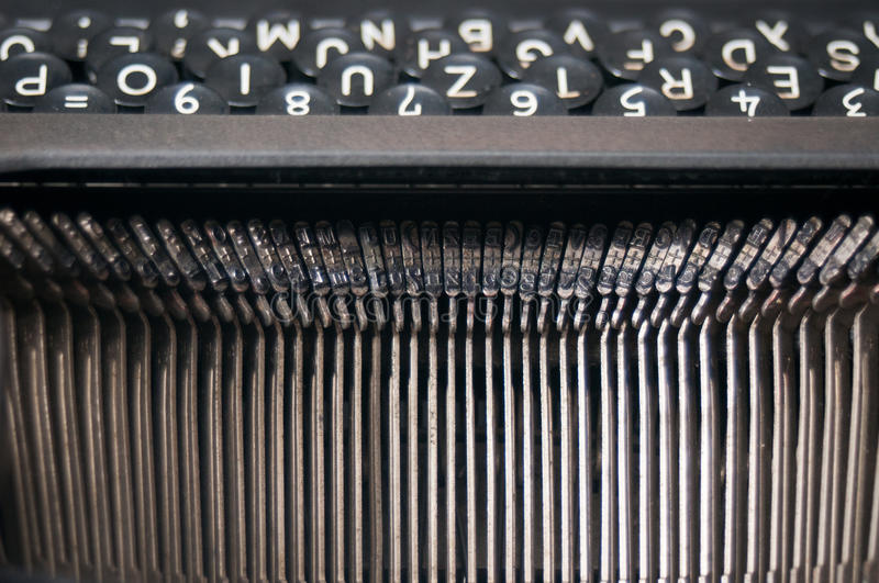 Vintage typewriter letters stock photography