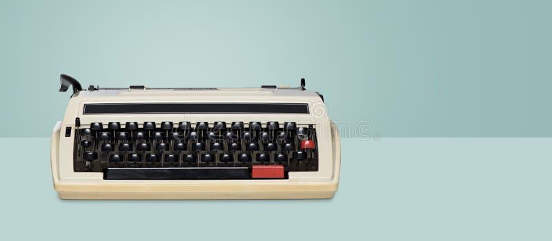 Vintage typewriter. Retro machine technology.  stock photo