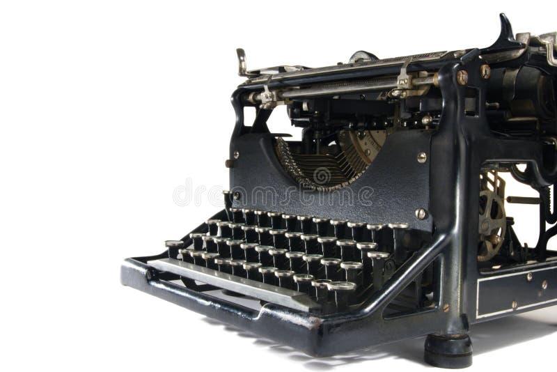 Vintage Typewriter on White. A stock image of a vintage typewriter. Isolated on white royalty free stock photos