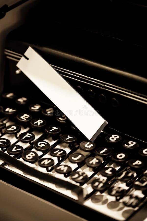 Download Vintage Typewriter And White Tag Stock Image - Image: 33563955