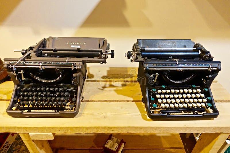 Vintage typewriters royalty free stock images