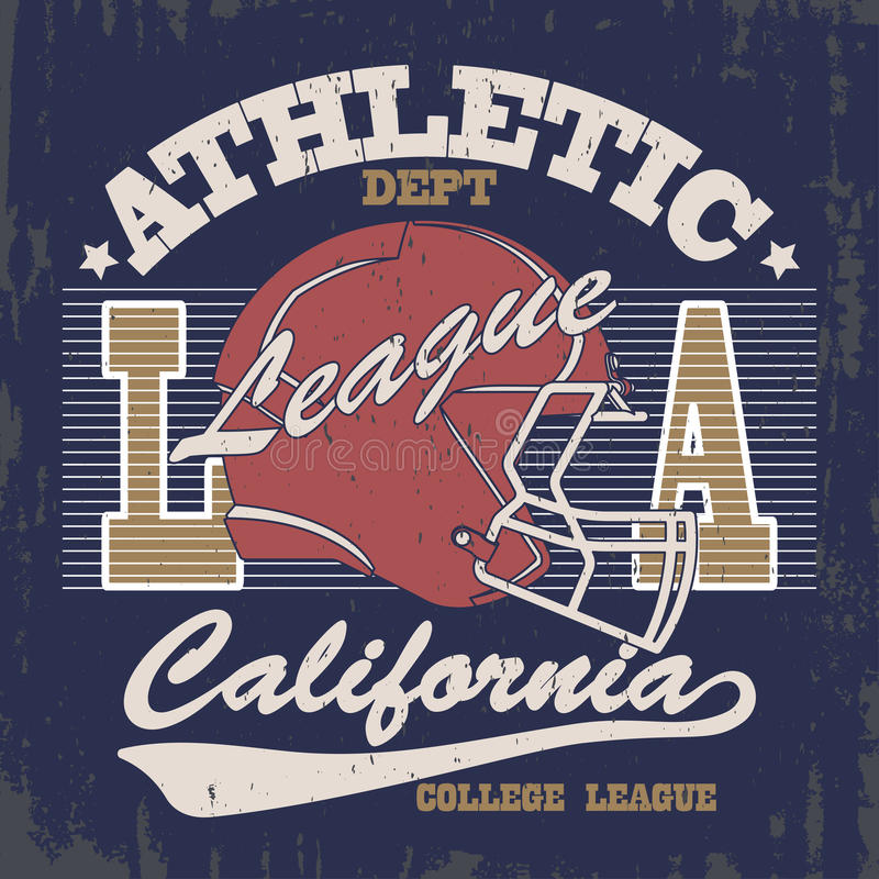 Vintage typography stamp, t-shirt graphics stock illustration