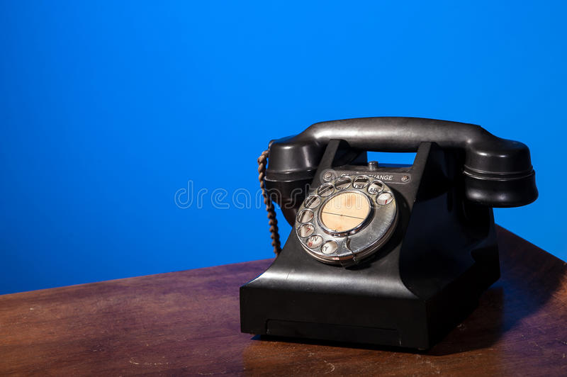 Download GPO 332 Vintage Telephone On Blue Stock Image - Image: 29818971