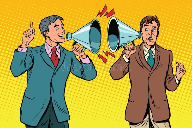 Vintage um diálogo entre dois povos, política de campanha ilustração do vetor