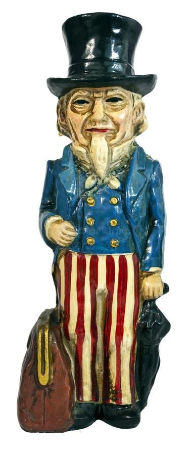 Vintage Uncle Sam figurine stock photos