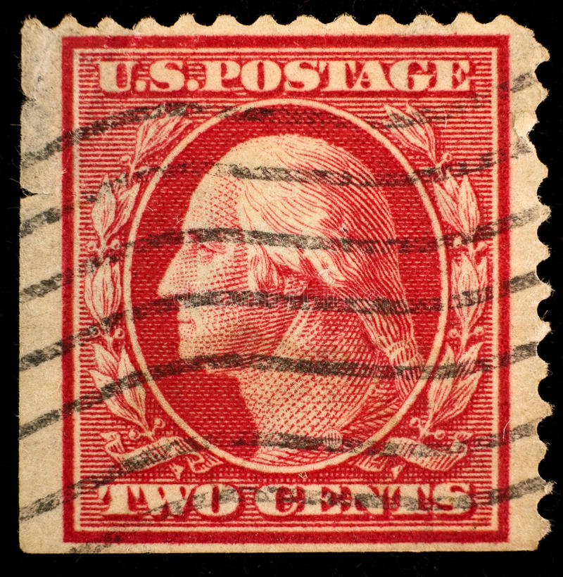 Vintage US postage stamp royalty free stock photo