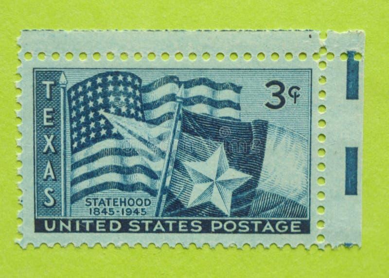 Vintage USA postage stamp. A vintage United States unused postage stamp of Texas Statehood, 1845-1945 royalty free stock image