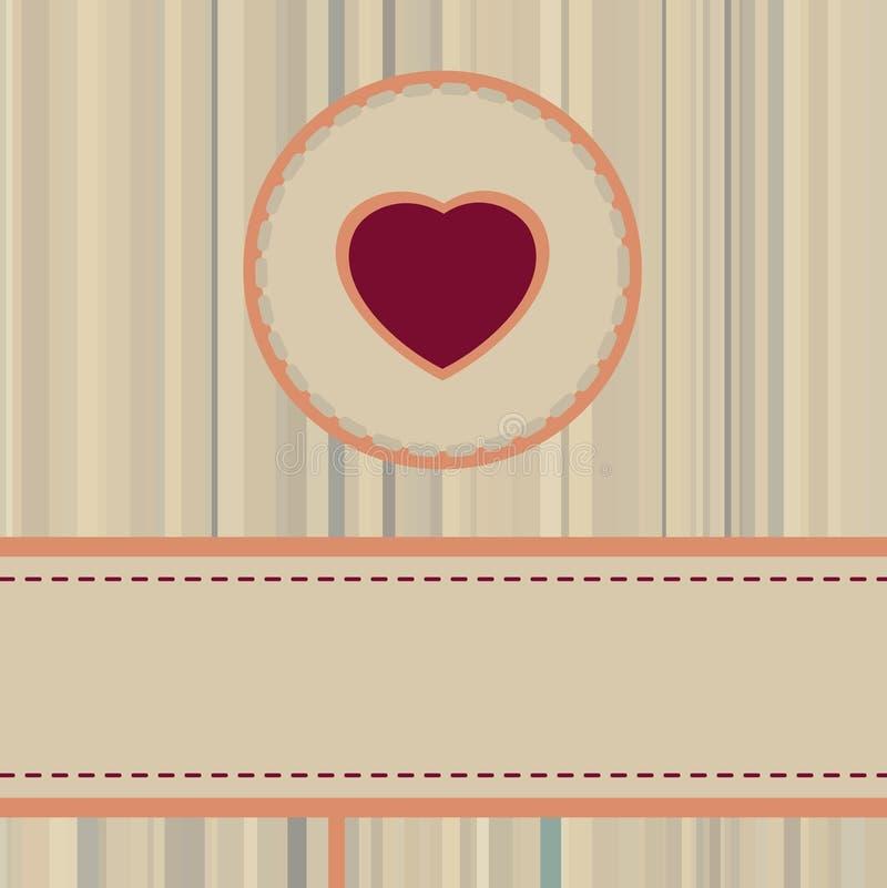 Vintage valentine Card or package design. EPS 8 stock illustration
