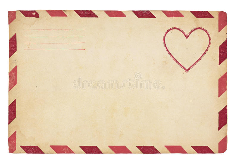 Vintage Valentine Envelope stock photos