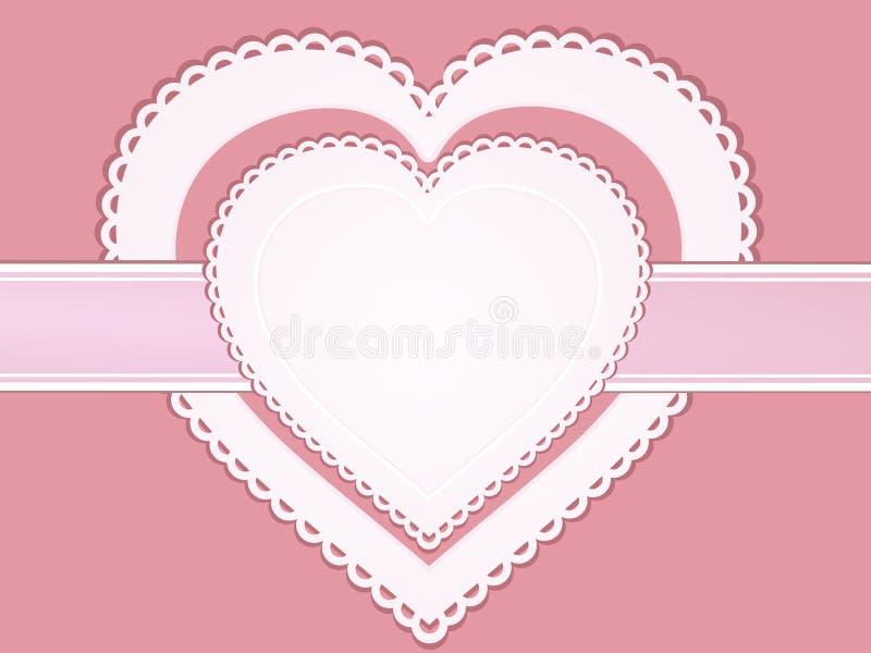 Vintage valentine heart label
