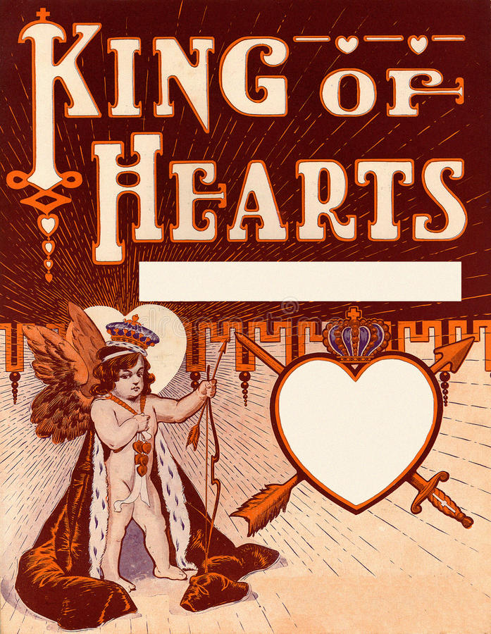Download Vintage Valentine King Of Hearts Background Stock Illustration - Image: 12452506