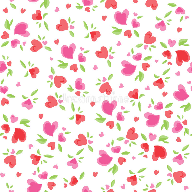 Download Vintage Valentine Pattern stock vector. Image of little - 29844287