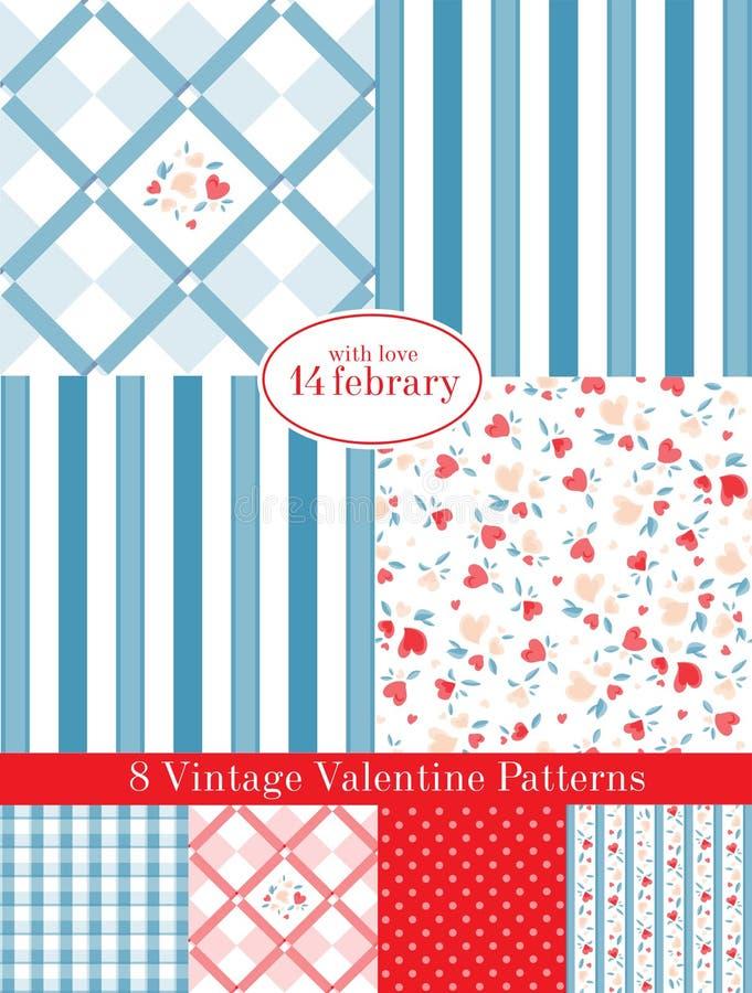 Download Vintage Valentine Patterns stock vector. Illustration of image - 29021490