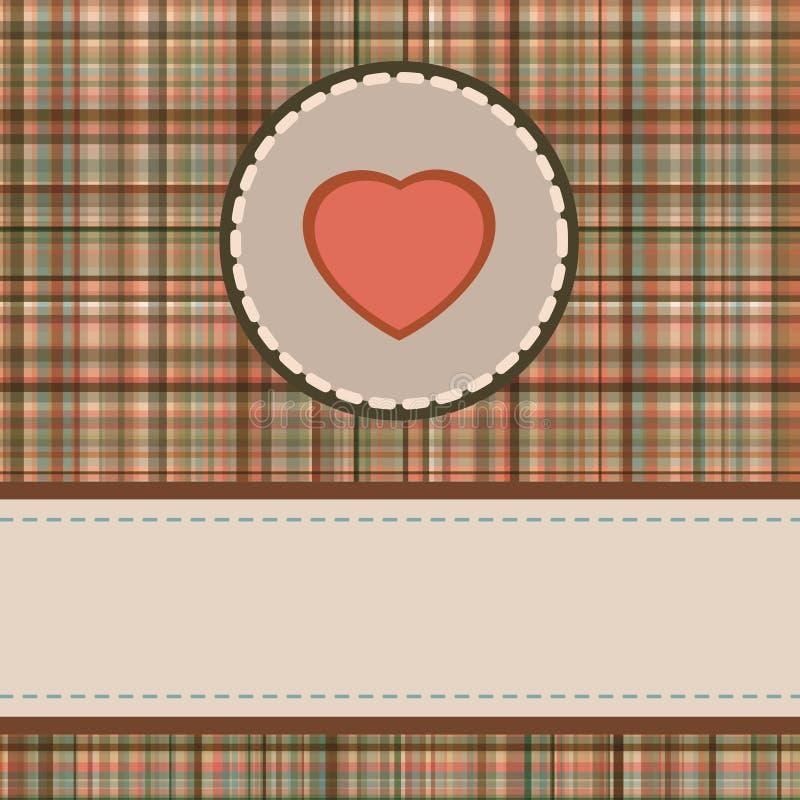 Vintage valentine's day card. EPS 8 vector illustration