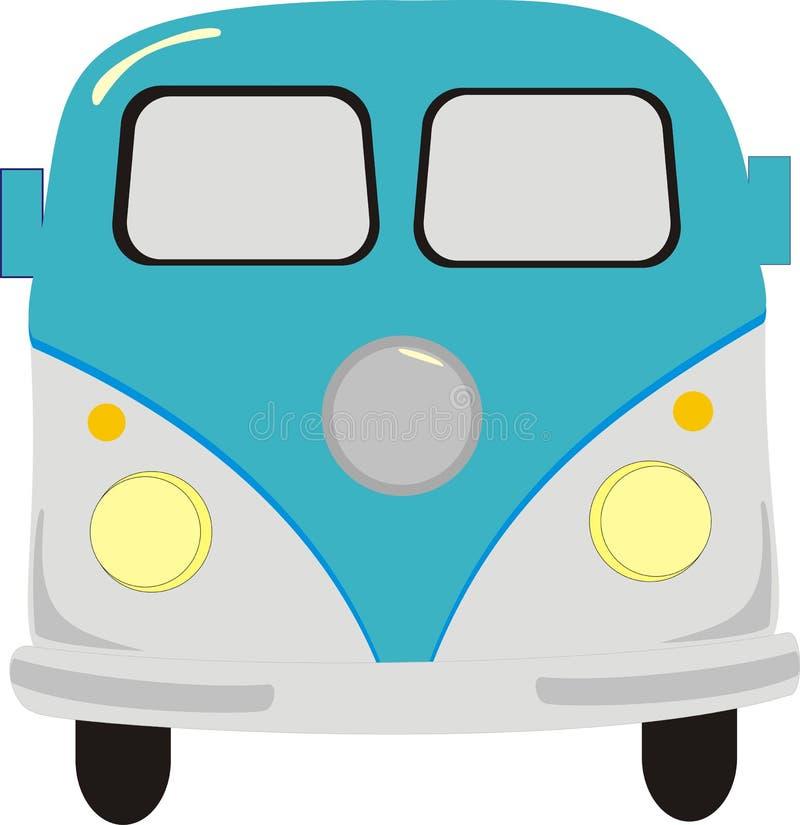 Download Vintage van stock vector. Image of microbus, front, minibus - 6263455