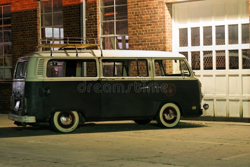 Vintage Van Outdoors royalty-vrije stock fotografie