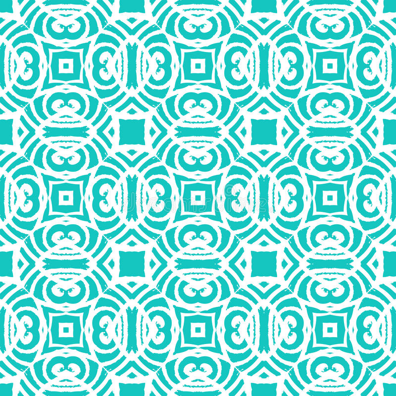vintage vector art deco pattern in aqua blue stock vector