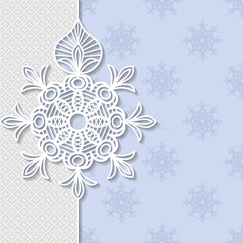 Vintage vector background, festive pattern embossing. Alace paper card, arabic decoration, indian ornament, festive pattern, 3D, EPS10 royalty free illustration