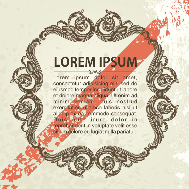 Download Vintage Vector Frame Ornate With Sample Text Stock Vector - Image: 25768201