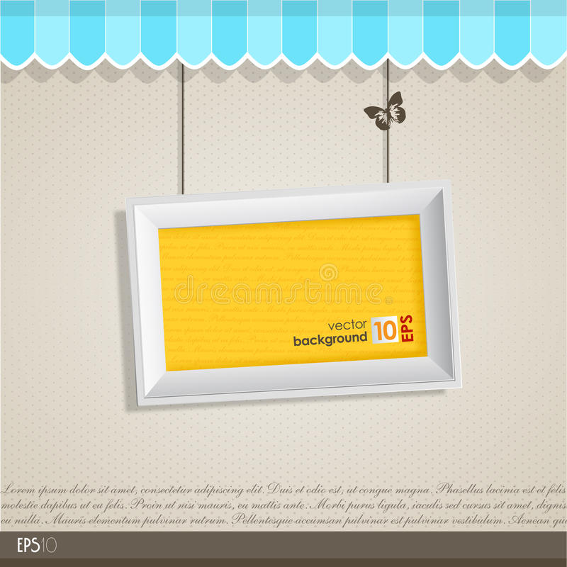 Vintage Vector Frame With Place For Your Text. Royalty Free Stock Images